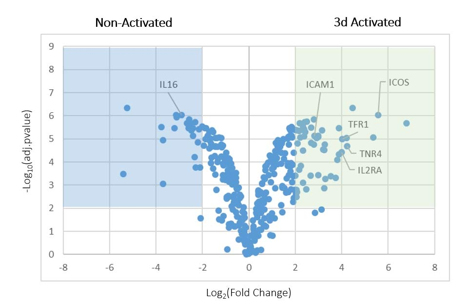 Dualsystems-Biotech-Volcano-plots-depicting-the-comparison-between-naïve-and-activated-T-cells-1